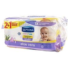 Μωρομάντηλα SEPTONA calm n' care Aloe Vera (3x64τεμ.)