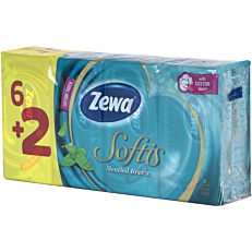 Χαρτομάντηλα ZEWA Menthol τσέπης (8τεμ.)