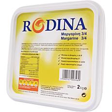 Μαργαρίνη RODINA 3/4 φυτική (2kg)