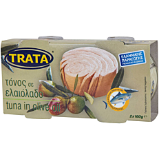 Κονσέρβα TRATA τόνος σε ελαιόλαδο (2x160g)