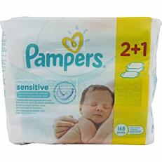 Μωρομάντηλα PAMPERS Sensitive (3x56τεμ.)