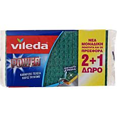 Σφουγγάρι VILEDA power κουζίνας (3τεμ.)