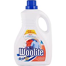 Απορρυπαντικό WOOLITE για όλους τους τύπους υφάσματος πλυντηρίου ρούχων, υγρό (1,5lt)