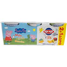 Γιαούρτι ΚΡΙ ΚΡΙ παιδικό με 3 φρούτα (3x140g)