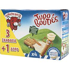 Τυρί αλειφόμενο LA VACHE QUI RIT τυροβουτιές 3+1 ΔΩΡΟ (140g)