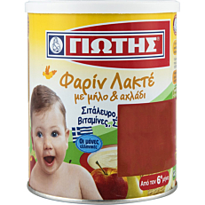 Παιδική κρέμα ΓΙΩΤΗΣ φαρίν λακτέμε μήλο και αχλάδι 6+ μηνών (300g)