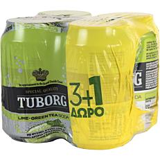 Αναψυκτικό TUBORG σόδα lime (4x330ml)