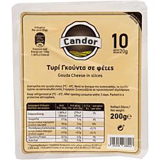 Τυρί CANDOR gouda σε φέτες Γερμανίας (200g)