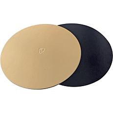 Δίσκος ζαχαροπλαστικής χάρτινος χρυσός, μαύρος Φ30cm 10kg