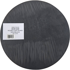 Δίσκος ζαχαροπλαστικής χάρτινος χρυσός, μαύρος Φ35cm 10kg