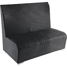 Καναπές RESORT LINE αλουμινίου μαύρος 120x72x100
