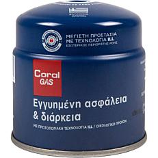 Φιαλίδιο υγραερίου CORAL GAS με βαλβίδα ασφαλείας ILL (190g)