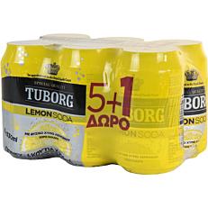 Αναψυκτικό TUBORG σόδα λεμόνι (6x330ml)