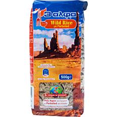 Ρύζι 3 ΑΛΦΑ parboiled άγριο (500g)