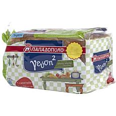 Ψωμί ΠΑΠΑΔΟΠΟΥΛΟΥ για τοστ γεύση2 σίκαλης (350g)