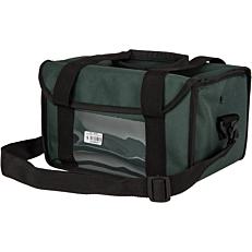 Τσάντα μεταφοράς καφέ, ισοθερμική πράσινη 6θέσεων