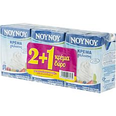 Κρέμα γάλακτος ΝΟΥΝΟΥ 35% λιπαρά (3x200ml)
