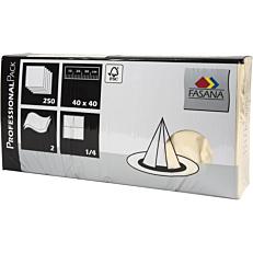 Χαρτοπετσέτες FASANA κρεμ 40x40cm (250τεμ.)