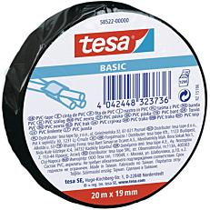 Ταινία TESA ηλεκτρομονωτική μαύρη 20m x 19mm