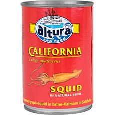 Κονσέρβα ALTURA καλαμάρι με φυσικό χυμό (370g)