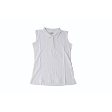 Μπλούζα ZEDEM γυναικεία πόλο αμάνικη λευκή