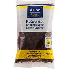 Cranberries ARION FOOD αποξηραμένα ζαχαρωμένα (200g)