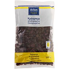 Cranberries ARION FOOD αποξηραμένα ζαχαρωμένα (500g)