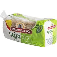 Ψωμί ΚΑΡΑΜΟΛΕΓΚΟΣ τοστ ψίχα ολικής άλεσης (480g)