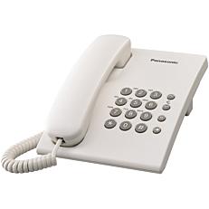 Τηλέφωνο PANASONIC KX-TS500 ενσύρματο, λευκό