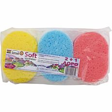 Σφουγγάρι SAMSON Soft μπάνιου (1x3τεμ.)
