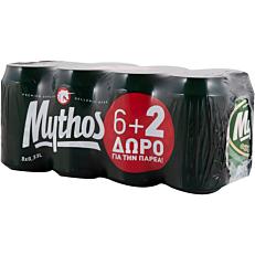 Μπύρα MYTHOS (6+2 δώρο) (8x330ml)