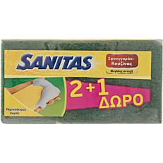 Σφουγγάρι SANITAS κουζίνας (3τεμ.)