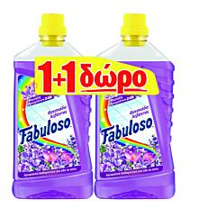 Καθαριστικό FABULOSO για το πάτωμα φρεσκάδα λουλουδιών, υγρό 1+1ΔΩΡΟ (1lt)