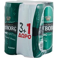 Αναψυκτικό TUBORG tonic water (3+1 δώρο) (4x330ml)
