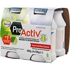 Ρόφημα γάλακτος BECEL Pro Activ με φυτικές στερόλες (4x100g)