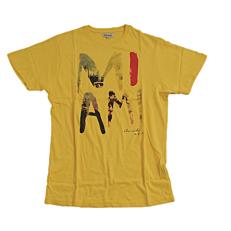 T-Shirt ZEDEM ανδρικό κοντομάνικο με στάμπα κίτρινο