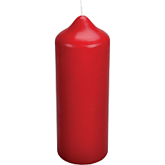 Κερί κορμός κόκκινο 7,8x22cm