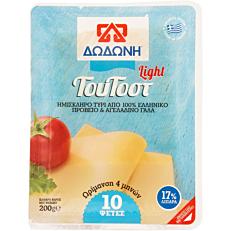 Τυρί ΔΩΔΩΝΗ light ΤουΤοστ ημίσκληρο σε φέτες (200g)