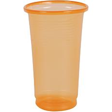 Ποτήρια πλαστικά PP πορτοκαλί 250ml (50τεμ.)