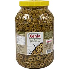 Ελιές XENIA πράσινες σε φέτες (2,1kg)