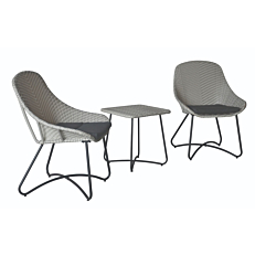 Σετ εξοχής MIMOSA GARDEN 2 καρέκλες με μαξιλάρια και 1 τραπέζι 48x48x51cm
