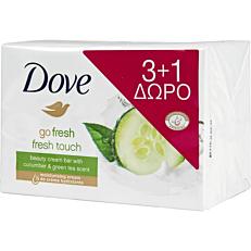 Σαπούνι DOVE fresh touch, πλάκα (4x100g)