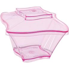 Μπολ με καπάκι ροζ 120ml (50τεμ.)