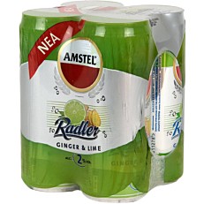 Μπύρα AMSTEL radler ginger & lime (4x330ml)