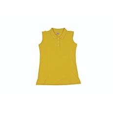 Μπλούζα ZEDEM γυναικεία πόλο αμάνικη κίτρινη