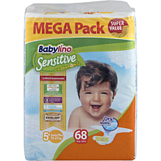 Πάνες BABYLINO Sensitive No.5+, 13-27kg (68τεμ.)