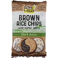 Ρυζογκοφρέτα RICE UP Chips ολικής άλεσης κινόα και chia (60g)