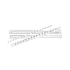 Καλαμάκια ίσια διαφανή συσκευασμένα 1/1 200x4mm (1000τεμ.)