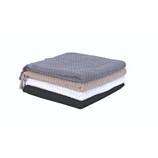 Πετσέτα YASEMI Mosaic προσώπου 100% γκρι, 550gsm 50x100cm