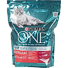 Ξηρά τροφή ONE γάτας στειρωμένης με μοσχάρι και δημητριακά (800g)